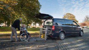Lewis Reed Group | British Supplier of Wheelchair Accessible Vehicles | Van Wheelchair and Lift | ramp by park